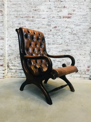 Groovy Leather Chesterfield Lounge Chair 1970S Machost Co Dining Chair Design Ideas Machostcouk