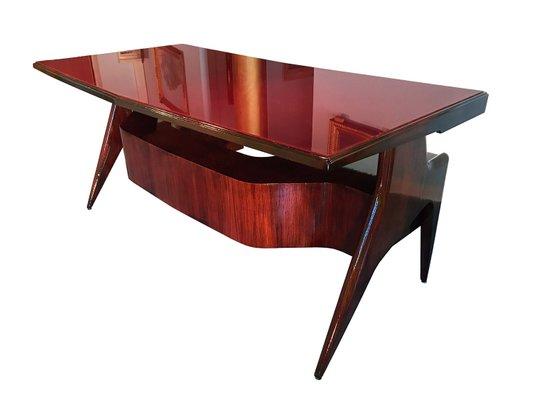 Executive Design Mobili Lissone.Mid Century Italian Walnut Executive Desk By Vittorio Dassi For Dassi Mobili Moderni 1950s