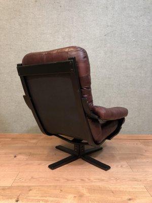 Brilliant Mid Century Leather Swivel Chair Machost Co Dining Chair Design Ideas Machostcouk