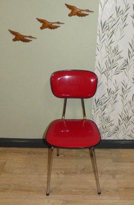 Mid-Century Chrome & Plastic Kitchen Chair