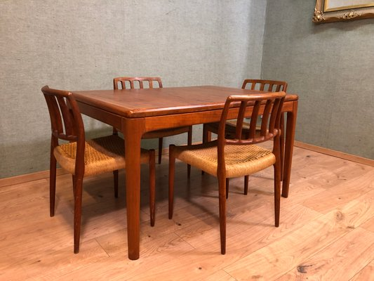 Superb Mid Century Dining Table By Niels Bach For Niels Bach Mobelfabrik Forskolin Free Trial Chair Design Images Forskolin Free Trialorg