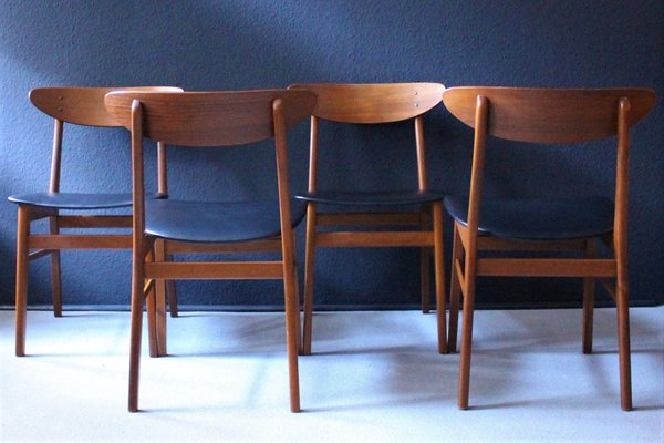 Surprising Danish Dining Chairs From Farstrup Mobler 1960S Set Of 4 Squirreltailoven Fun Painted Chair Ideas Images Squirreltailovenorg