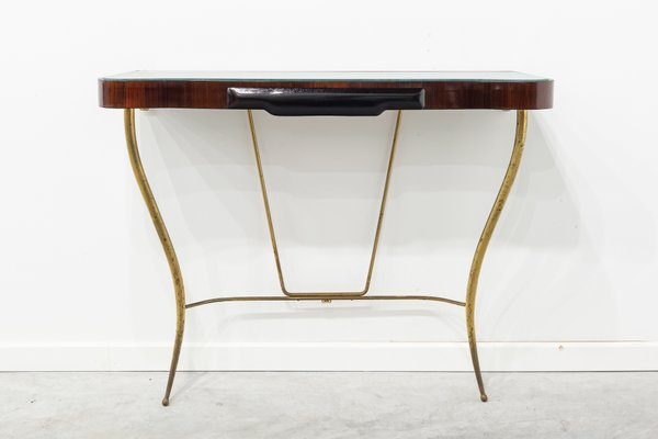 Italian Rosewood Console Table 1950s