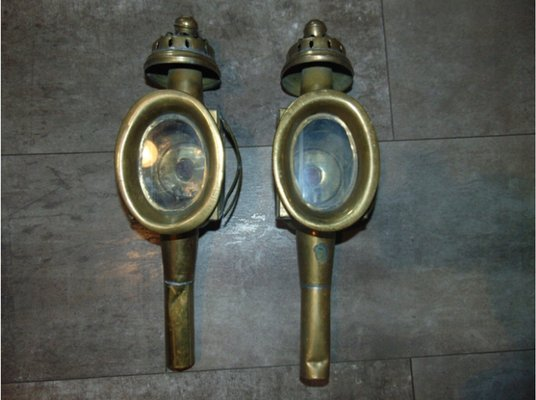 Antique Carriage Lamps Set Of 2