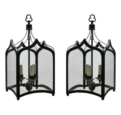 Gothic Style Iron Ceiling Lamps 1960s Set Of 2