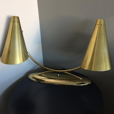 Mid Century American Brass Table Lamp from Laurel