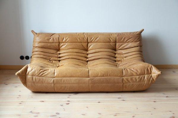 Super Camel Brown Leather Togo Sofa By Michel Ducaroy For Ligne Roset 1990S Creativecarmelina Interior Chair Design Creativecarmelinacom