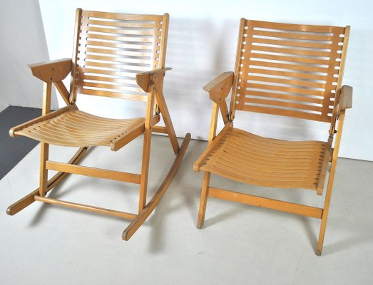 rehén una taza de Oh  Model Rex Armchair and Rocking Chair by Niko Kralj, 1952, Set of 2 for sale  at Pamono