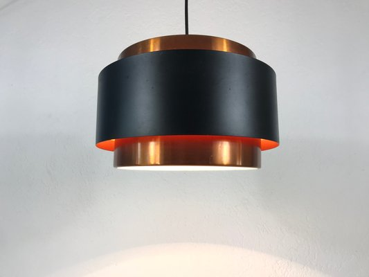 Black Copper Circular Pendant Lamp From Fog Morup 1970s For Sale At Pamono