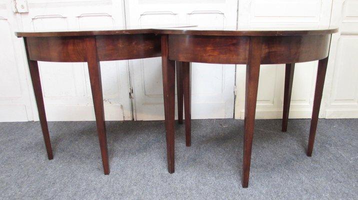 Terrific Antique Mahogany Console Tables Set Of 2 Machost Co Dining Chair Design Ideas Machostcouk