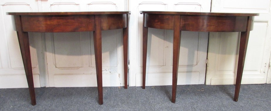 Strange Antique Mahogany Console Tables Set Of 2 Machost Co Dining Chair Design Ideas Machostcouk