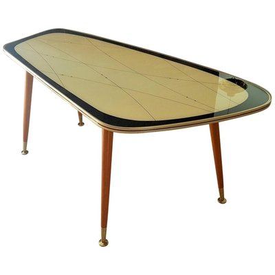 German Glass Top Coffee Table 1950s For Sale At Pamono