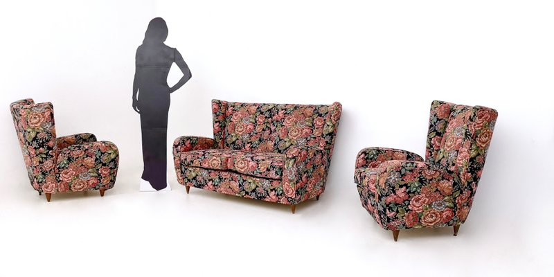 Surprising Vintage Italian Floral Fabric Sofa By Paolo Buffa 1950S Onthecornerstone Fun Painted Chair Ideas Images Onthecornerstoneorg