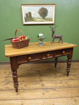 Enjoyable Antique Victorian Pine Harvest Table With Drawers Alphanode Cool Chair Designs And Ideas Alphanodeonline