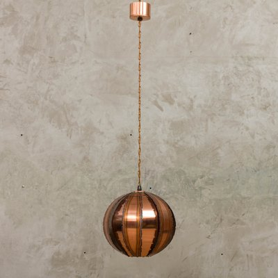Copper Pendant Lamp By Svend Aage Holm