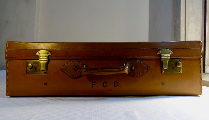 """Natural 6/"""" Leather Trunk Handle small doll box chest steamer antique box vintage"""