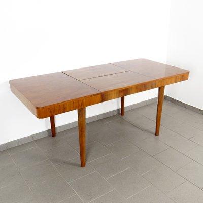 Tavolo da pranzo vintage allungabile in legno di Jindřich Halabala per UP  Závody, anni \'30