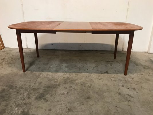 Danish Oval Dining Table 1960s
