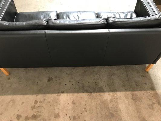 Danish 3-Seat Leather Sofa, 1960s