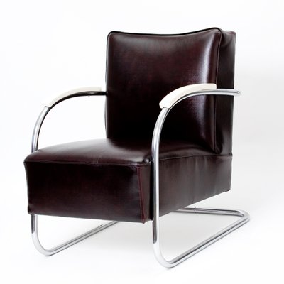 Poltrona Acciaio Cromato.Poltrona Bauhaus Vintage In Acciaio Cromato Di Anton Lorenz Per Kovona