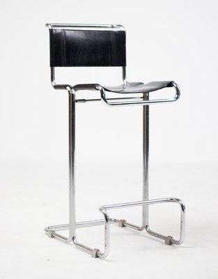 Awe Inspiring Chrome And Leather Bar Stools 1920S Set Of 2 Creativecarmelina Interior Chair Design Creativecarmelinacom