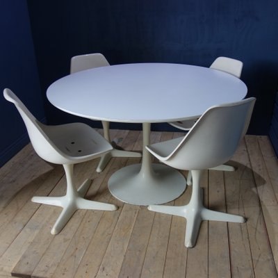 Dining Table Chairs Set By Maurice Burke For Arkana 1960s Set Of 4