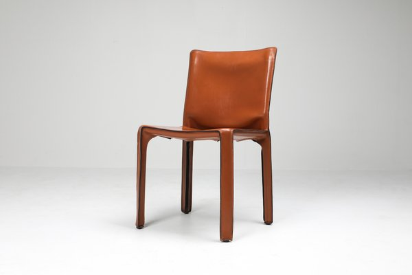 Tremendous Cognac Leather Cab Chairs By Mario Bellini For Cassina 1970S Set Of 2 Ocoug Best Dining Table And Chair Ideas Images Ocougorg