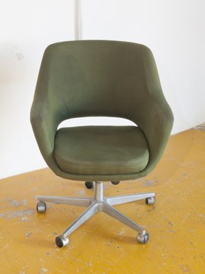 Miraculous Spanish Fabric And Aluminum Swivel Chair 1970S Creativecarmelina Interior Chair Design Creativecarmelinacom