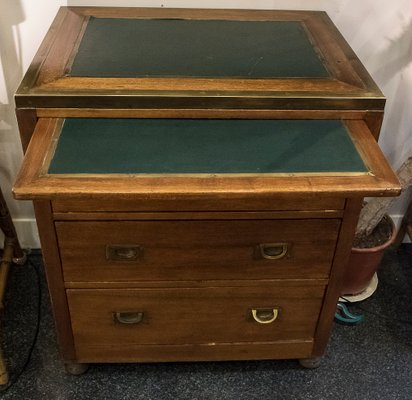 19th Century English Camphor Chest Of Drawers With Secretaire