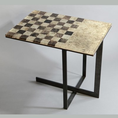 Chess Side Table By Alcarol For Sale At Pamono