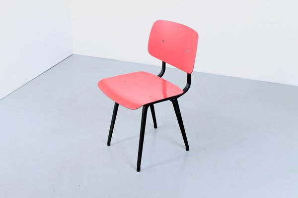Awe Inspiring Dutch Coral Red Dining Chair By Friso Kramer For Ahrend De Cirkel 1950S Evergreenethics Interior Chair Design Evergreenethicsorg