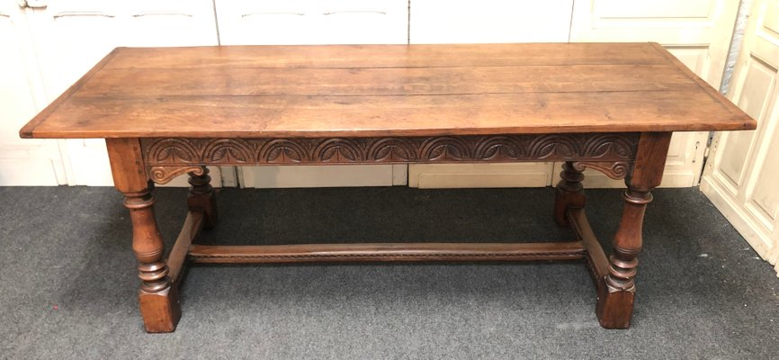 Antique Oak Dining Table For At Pamono