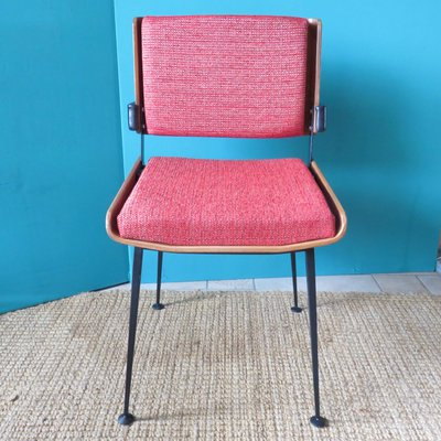 Tremendous Red Dining Chairs By Alain Richard 1960S Set Of 4 Pabps2019 Chair Design Images Pabps2019Com