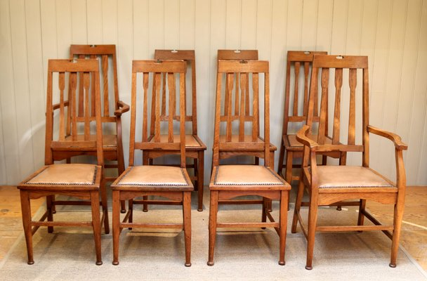 Antique Dining Chairs Set Of 8 For Sale At Pamono