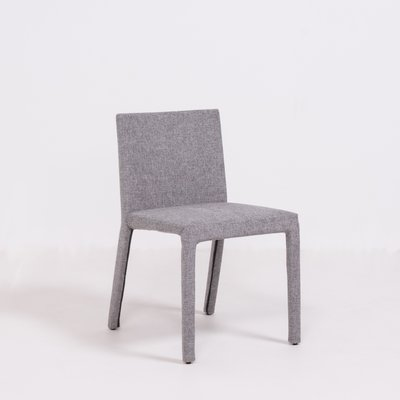 Grey Fabric Dining Chairs By Carlo, Grey Fabric Dining Chairs With Arms