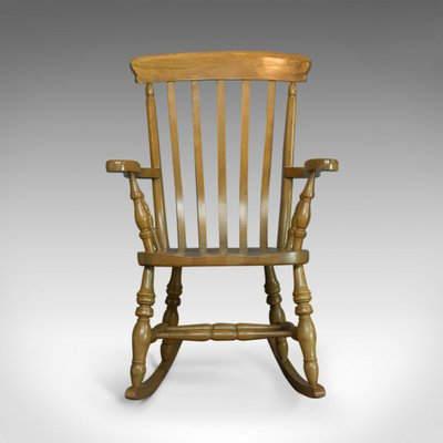 Vintage Beech Windsor Rocking Chair For