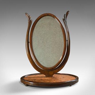 Antique Swinging Mahogany Framed Vanity Mirror For Sale At Pamono