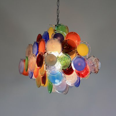 Multi Colored Murano Gl Chandelier