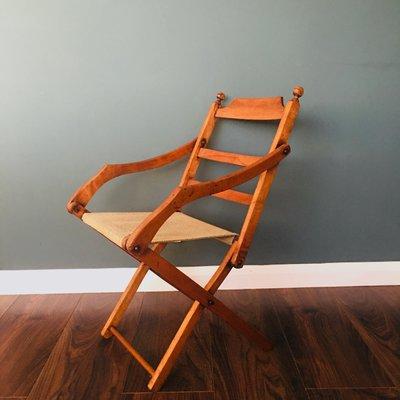 Chaise de Campagne Pliante Ancienne