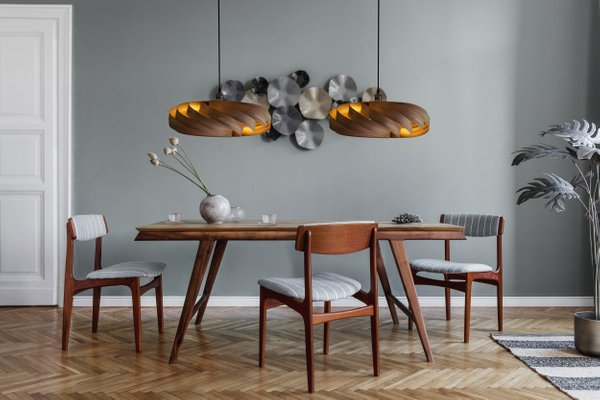 Large Walnut Andromeda Pendant Lamp by Manuel Döpper for