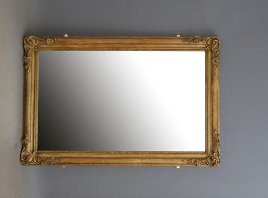 Specchio da parete antico in legno dorato, Francia