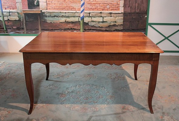 Antique Birch And Cherry Dining Table For Sale At Pamono