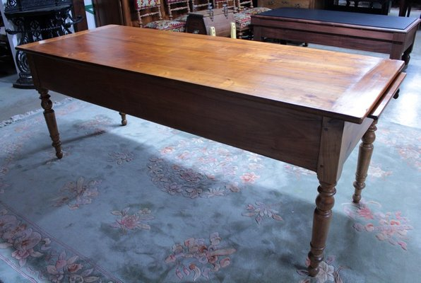 Antique Cherry Wood Desk For At Pamono