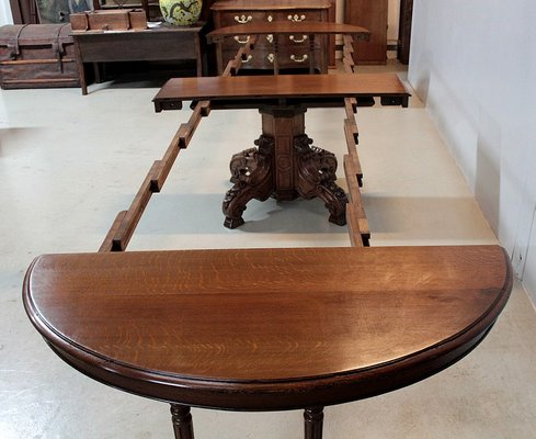 Antique Oak Extendable Dining Table For Sale At Pamono