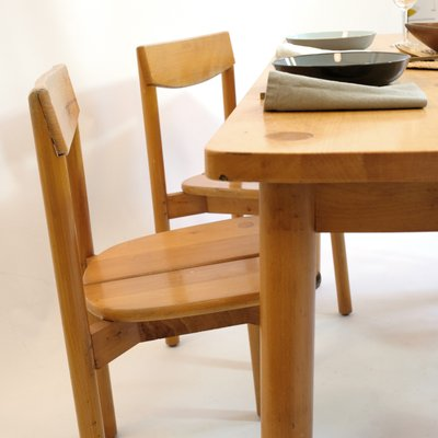 Fabulous Vintage Dining Table 4 Chairs Set By Pierre Gautier Delaye 1950S Cjindustries Chair Design For Home Cjindustriesco