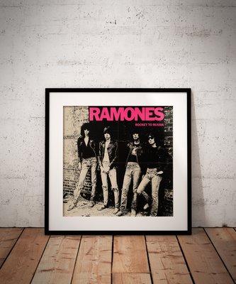 Ramones Rocket to Russia concert poster  canvas print