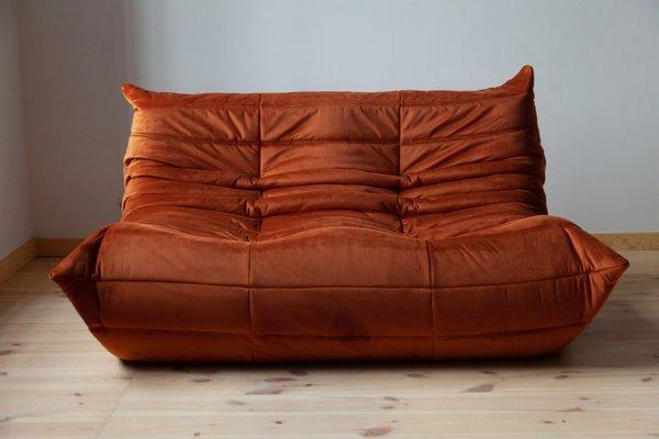 Velvet 2 Seater Sofa By Michel Ducaroy