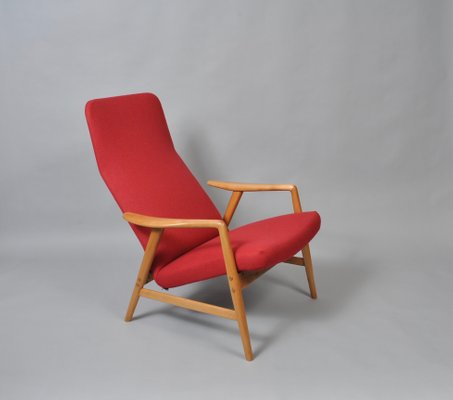 Astonishing Red Lounge Chair By Alf Svensson For Fritz Hansen 1959 Pabps2019 Chair Design Images Pabps2019Com