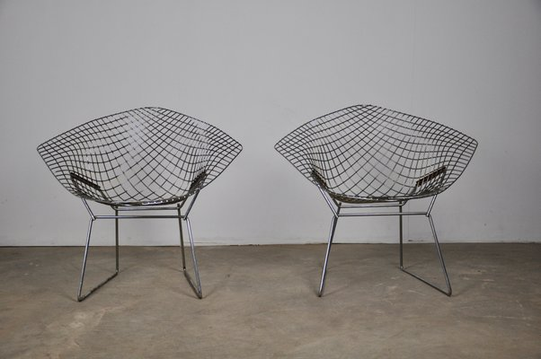 Excellent Vintage Diamond Lounge Chairs By Harry Bertoia For Knoll Inc Knoll International Set Of 2 Alphanode Cool Chair Designs And Ideas Alphanodeonline