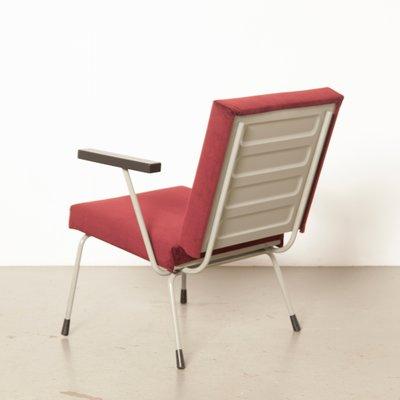 Prime Dutch Model 1401 Burgundy Red Velvet Armchair By Wim Rietveld For Gispen 1950S Theyellowbook Wood Chair Design Ideas Theyellowbookinfo
